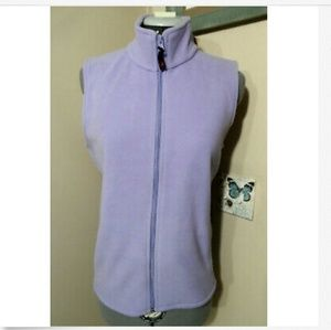 Nwt WOOLRICH Fleece Vest S Lavender Outdoor Sport